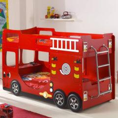 Hoe pas je een brandweerbed in de kinderkamer?